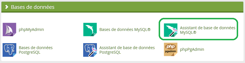 Assistant de base de données MySQL